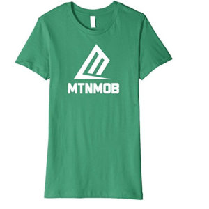 mtnmob ladies basic green tee