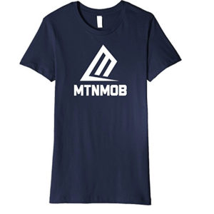 mtnmob ladies navy basic logo tee