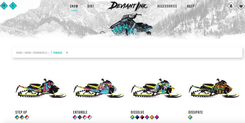 yamaha snowmobile wraps